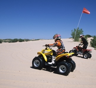 Off-highway vehicles at Mescalero Sand Dunes
